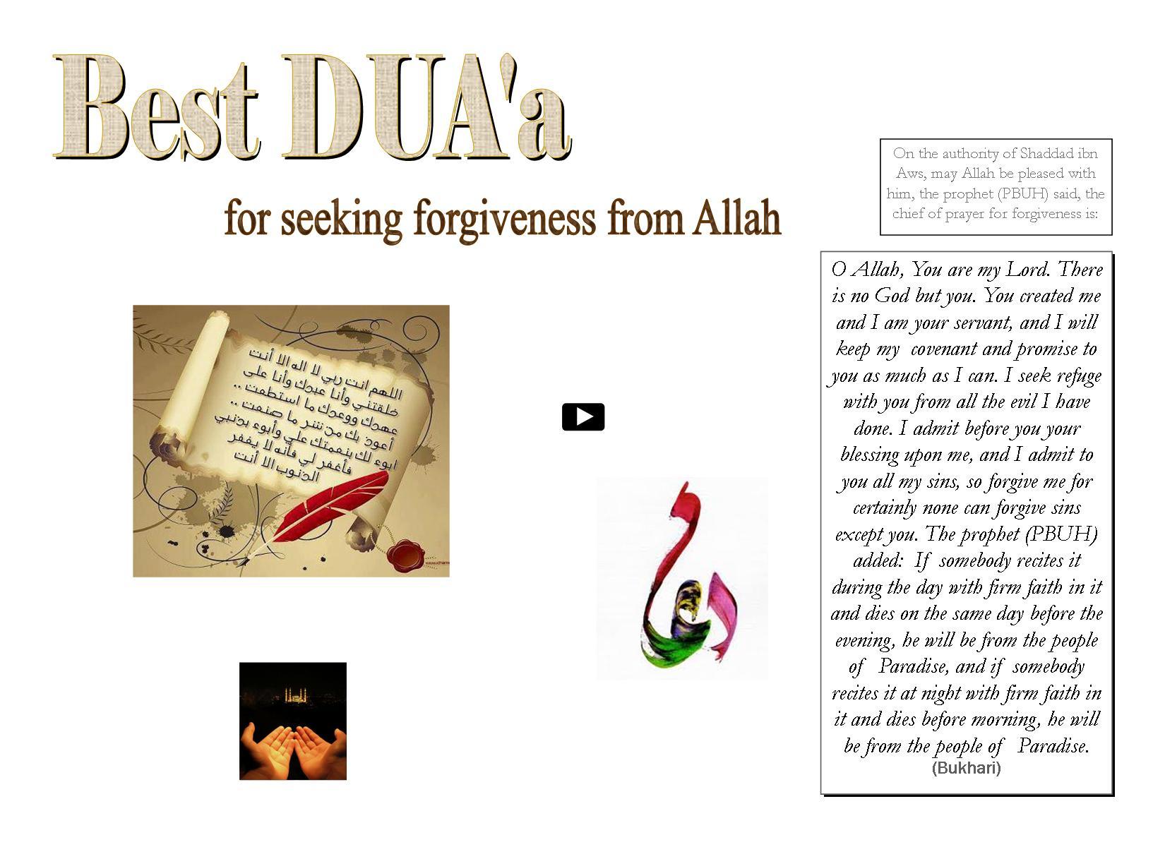 Best DUA'a for seeking forgiveness from Allah