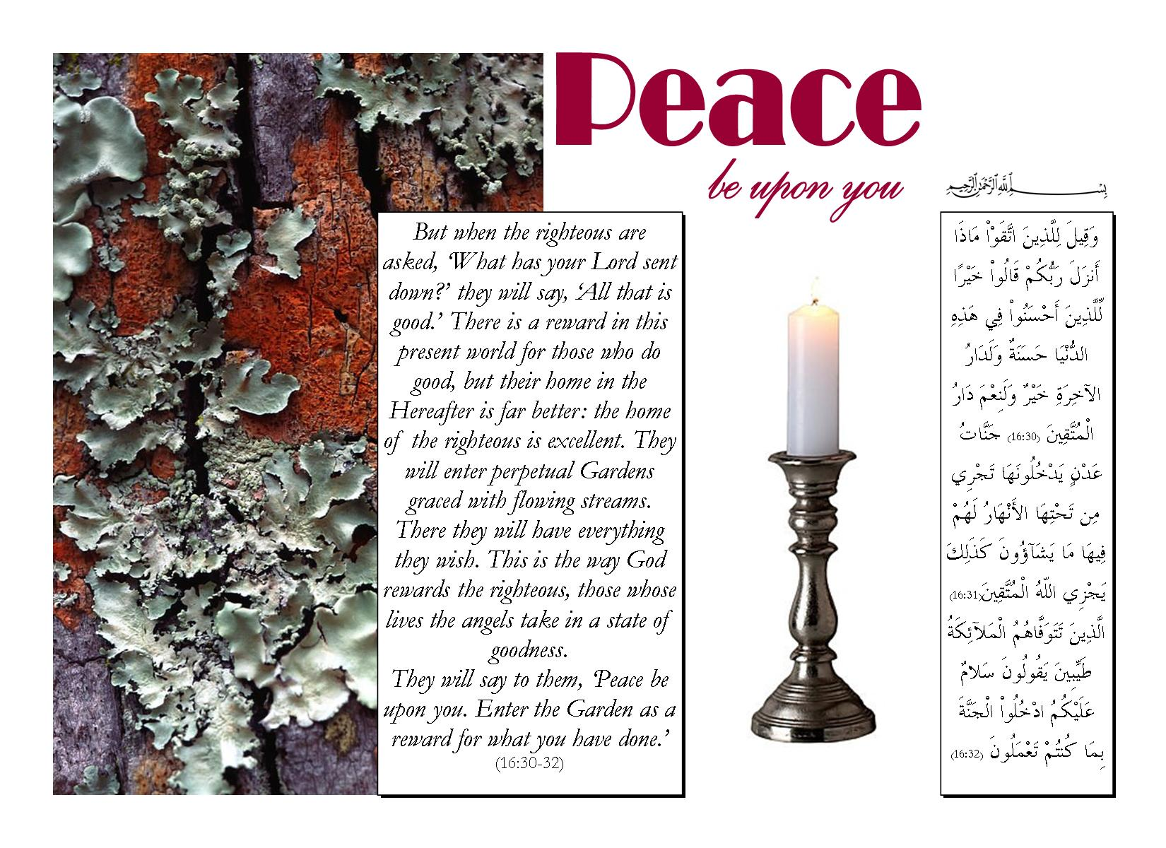 Peace be upon you!