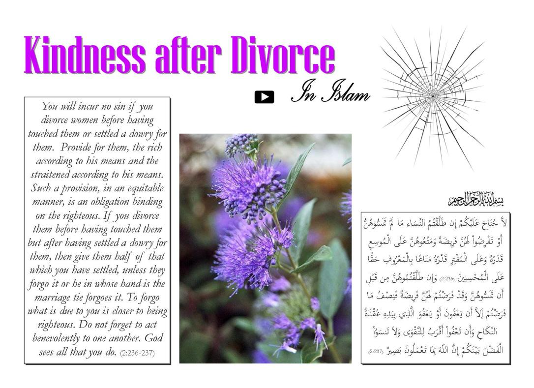 Kindness after Divorce in Islam